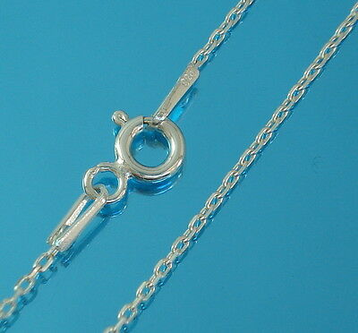 Solid 925 Sterling Silver Trace Chain Necklace Various Lengths New Genuine