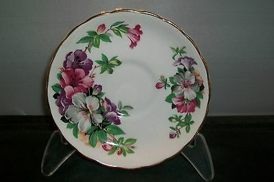 TUSCAN AZALEA SAUCER MADE IN ENGLAND