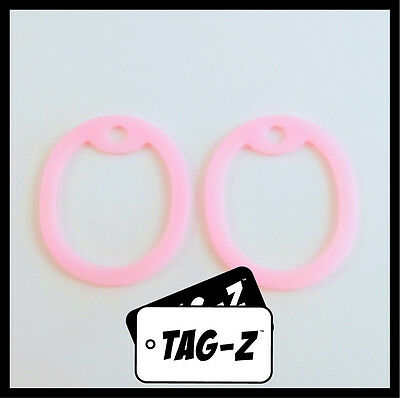 2 Glow in the Dark Pink Dog Tag Silencers - Military GI Silencer - Tag-Z
