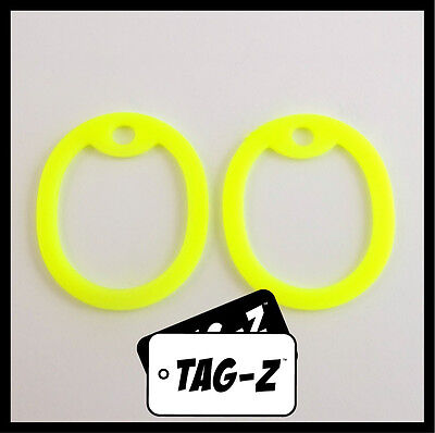 2 Glow in the Dark Yellow Dog Tag Silencers - Military GI Silencer - Tag-Z