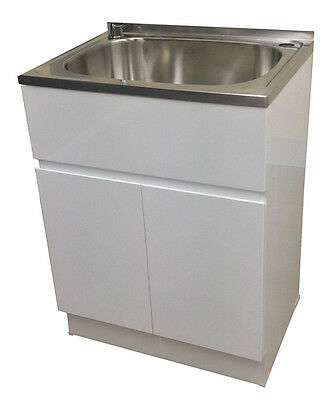 Large Laundry Trough : ... 45L stainless steel sink laundry cabinet / trough with adjustable legs