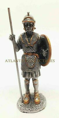 """Medieval Knight Figurine Pike and Shield Unit Statue 4""""h Pewter CLOSEOUT SALE"""