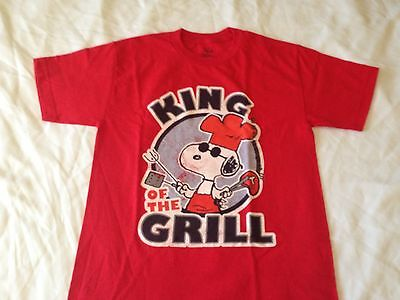 Peanuts Snoopy King of the Grill Funny Vintage Comic Strip Men's T Shirt