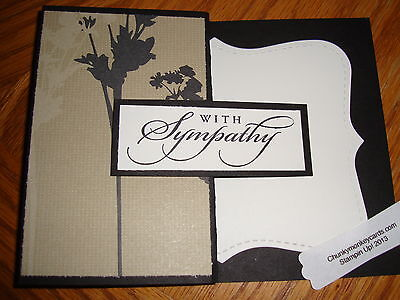 "Stampin Up "" With Sympathy"" Homemade Greeting Card"