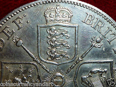 1887 Silver Coin  UK (Great Britain)  High Grade Double Florin