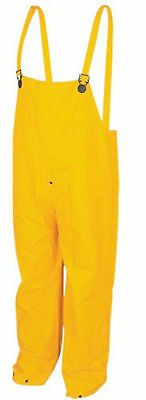 MCR Safety 200BPX4 PVC/Polyester Bib Pants Snap Fly Front, Yellow, 4X-Large