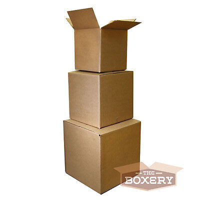 25 Boxes 8x6x4'' Shipping Packing Mailing Moving Corrugated Cartons - The Boxery