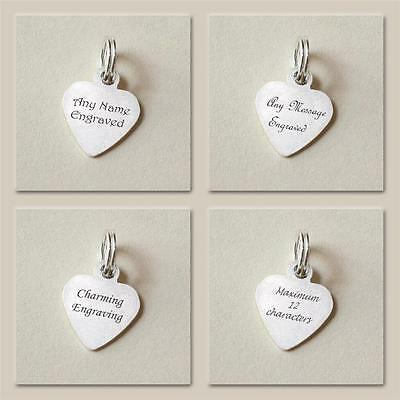 Tiny Engravable Heart Tag Sterling Silver Any Wording Engraved Jewellery UK Gift