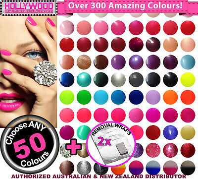 Choose ANY 50x Bluesky SoakOff UV/LED Gel Nail Polish 10ml + Removal Wraps