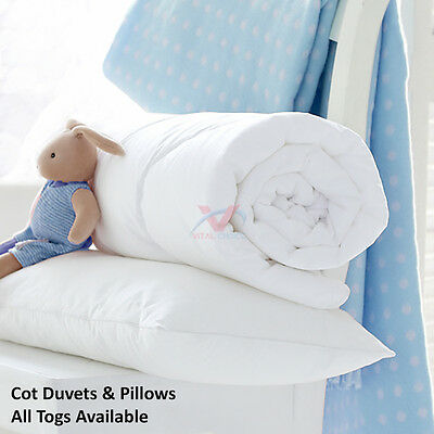 Anti-Allergy Cot Bed Duvet Quilt Cot Pillow Nursery Baby Toddler Bedding All Tog