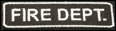 FIRE DEPARTMENT Iron-On Patch/Badge for T-Shirt/Cap/Bag Rescue Explorer Dept 25P