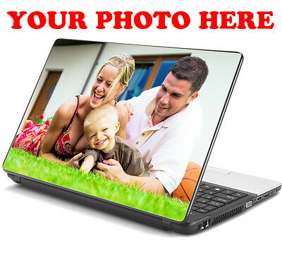 "Personalised Your Photo Laptop Stickers Skin Decal Logo 15,6"" 15,4"" 15"" 13"" 10"""