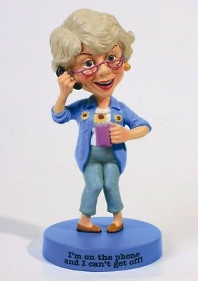 The Boomers Mama Collection Figurine Can't Get Off The Phone Birthday Gift Decor