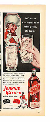 1943 Advertisement Johnnie Walker Blended Scotch Whiskey, Black And Red Labels