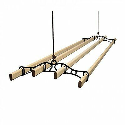 Traditional old english Vintage Clothes airer dryer kitchen rack ceiling drier
