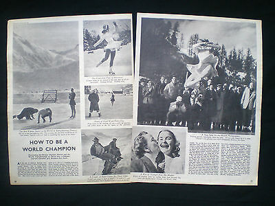Barbara Ann Scott Canadian Ice Figure Skating Olympic Champion Old Article 1948