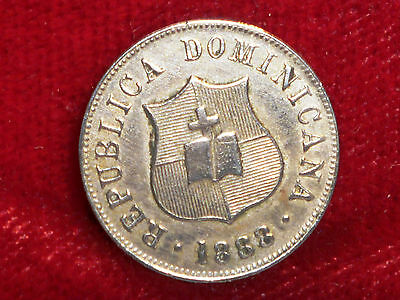1888 Dominican Republic 2 1/2 Centavos