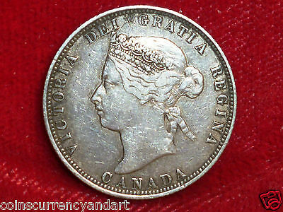 1871 Canada 25 Cents Queen Victoria  Quarter 1871  Great Condition