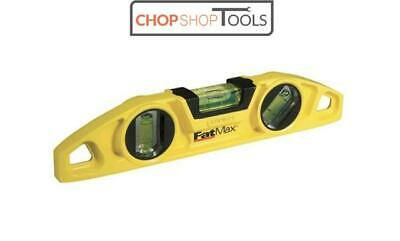 "Stanley 0-43-603 Torpedo Spirit Level 9 "" Inch 220mm Fatmax Magnetic V STA043603"