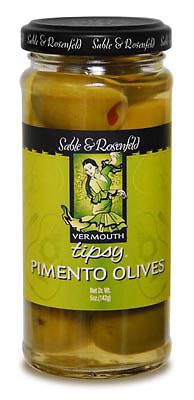 Sable & Rosenfeld Vermouth Tipsy Olives  case of 6 x 250ml Jars