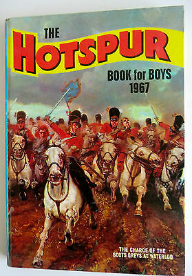 Rare Vintage Uk Annual- The Hotspur Book For Boys 1967 - Super Condition!