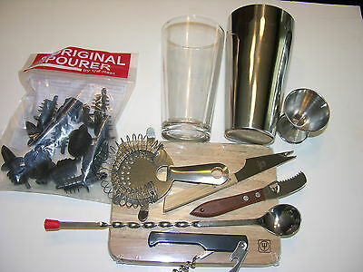 Usa Seller  21  Piece Bartender's Bar Set  Free Shipping Us Only