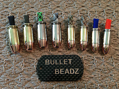 45 AUTO & 9mm Bullet Beadz 550 Paracord Bracelet made from