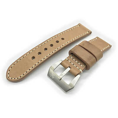 SV Light Brown Italian Cow Leather 24mm Panerai Watch Strap Band for 44mm PAM
