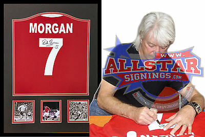 Framed Willie Morgan Signed Manchester United 7 Football Shirt With Proof & Coa