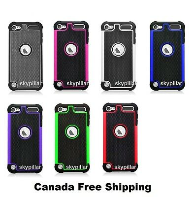 For Apple iPod Touch 5 5th 6 6th Gen - Heavy Duty Hybrid Hard Back Case Cover