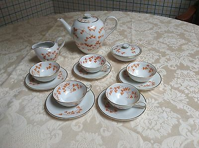 (13 Pc) China Demitasse Set for 5