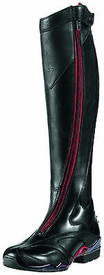 ARIAT - Womens Volant Tall Red Zip Front Show Boot ( 10007901 ) - Black - New