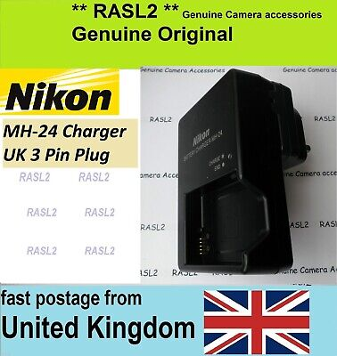 Genuine Original NIKON MH-24 EN-EL14a 3 Pin Charger DF D3500 D3400 D3300 D5200