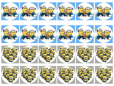 Despicable Me 2 Cupcake Edible Icing Party Cake Topper Decoration Image Custom
