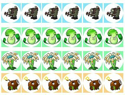 Plant vs Zombie 2 Cupcake Edible Icing Party Cake Topper Decoration Image Custom