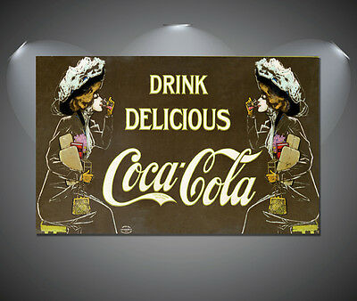 COCA COLA PIN Up Girl Coke Vintage CCC02 Giant LARGE WALL