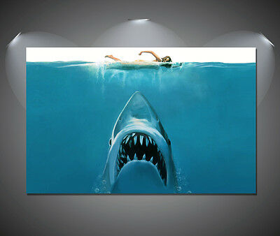 Jaws Movie Vintage Retro Movie Large Poster - A1, A2, A3, A4 sizes