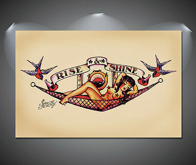 Sailor Jerry Tattoo Vintage Large Poster - A1, A2, A3, A4 sizes