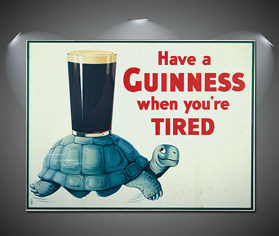Guiness Tortoise Vintage Art Deco Poster - A1, A2, A3, A4 sizes