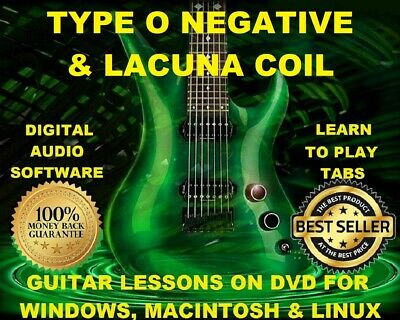 Type O Negative 150 & Lacuna Coil 173 Guitar Tabs Software Lesson CD & 31 BTs