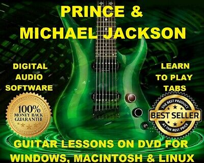 Michael Jackson 142 Prince 143 Guitar Tabs Software Lesson CD 116 Backing Trax