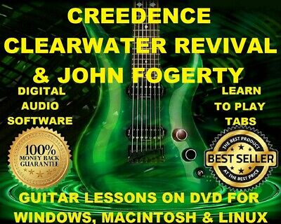 CCR 207 & John Fogerty 120 Guitar Tab Software Lesson CD & 50 Backing Tracks