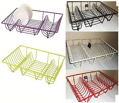 Premium Quality Large Metal Wire Dish Drainer Plate Draining Rack/Holder Stand