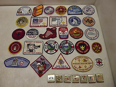 Vintage 1970's Bsa Boy Scouts Of America Patches & Belt Loop Lot