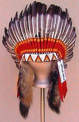 "Genuine Native American Navajo Indian Headdress bonnet 36"" diameter ""ANTIQUE"""