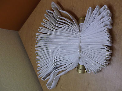 """New White Pin Rack Fire Hose Single Jacket Id 1-1/2"""" 75 Ft. L 250 Psi Nst"""