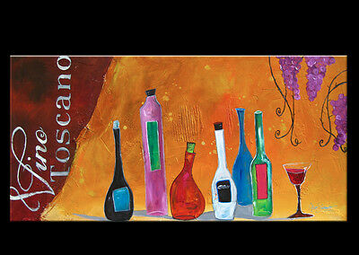 Wine Bottles ORIGINAL MODERN ABSTRACT ART LARGE CONTEMPORARY PAINTING