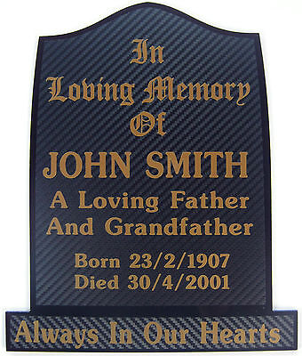 Memorial Plaque Grave Personalised Your Own Words / Temporary Headstone Marker