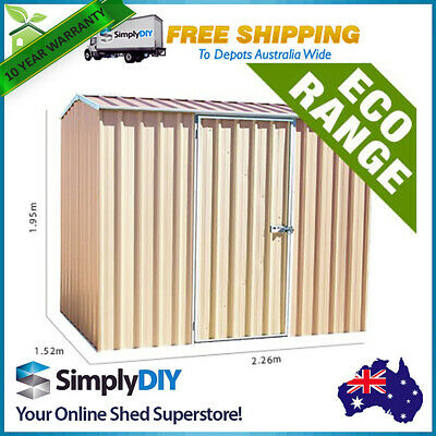 Absco ECO-nomy Garden Shed 2.26 x 1.52x1.95m Medium Storage Outdoor Sheds MERINO