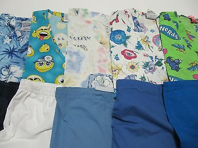 Womans Lot Of Scrub Sets, 5 Tops, 5 Pants, Very Nice    Size S  (Box63)